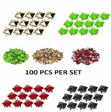 <b>100 x Pyramid</b> CRAFT <b>Punk</b>, <b>Rock</b>, Leather Bag Studs Biker Fashion ...