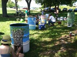 trash cans default: salem sound coastwatch painting garbage cans for increased use