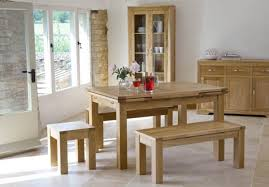 light oak kitchen table sets and backless dining bench also large glass decanters across teak wood attractive kitchen bench lighting