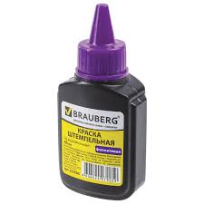 Купить <b>Краска штемпельная BRAUBERG</b>, фиолетовая, 45 мл, на ...