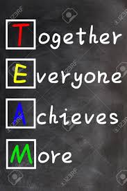 team acronym together everyone achieves more teamwork motivation stock photo team acronym together everyone achieves more teamwork motivation concept of chalk handwriting on a blackboard