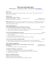 resume example of objectives  sample resume objectives