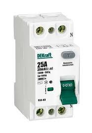 Выключатели дифференциального тока ... - Продукция DEKraft