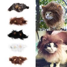 OUTAD <b>Pet Cat Dog</b> Wig Emulation Lion Hair <b>Mane</b> Ears Head Cap ...