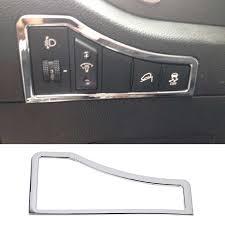 NEW <b>Car Accessories ABS</b> Chrome <b>Inner</b> Head Light Lamp Switch ...