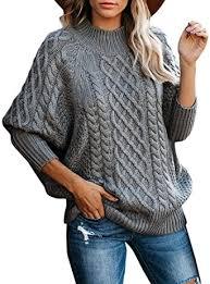 <b>Turtleneck Sweater Women</b> Autumn Casual Loose Chuncky Cable ...