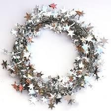 5M 5Colors <b>Christmas Tree Hanging Star</b> Pine Tinsel Stars Rattan ...