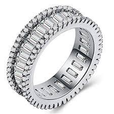 <b>Huitan</b> Punk Style Couple <b>Band Ring</b> Eternity Engagement <b>Wedding</b> ...
