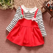 latest children dress designs autumn baby girl dress striped long sleeved baby fashion dress party baby girl dress designs