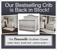 shop hot gray cribs and nursery sets our best selling thomasville southern dunes crib is back in stock best nursery furniture brands