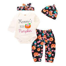 Halloween Girls Set <b>4 pcs lot Cotton</b> Long Sleeve Set New Fashion ...
