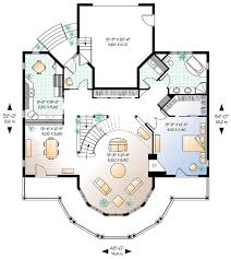 House Plan at FamilyHomePlans comCoastal Victorian House Plan Level One