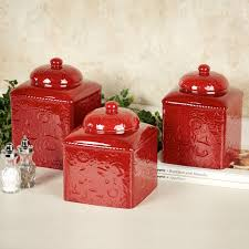 rustic kitchen canister set red canisters savannah red kitchen canister sets made of ceramic for kitchen accesso