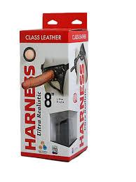 Насадка-фаллоимитатор на кожаных <b>трусиках Harness Ultra</b> ...
