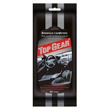 <b>Салфетки влажные</b> для салона автомобиля <b>Top Gear</b> 30 штук ...