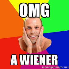 Omg A wiener - Really, really, really, REALLY gay guy | Meme Generator via Relatably.com
