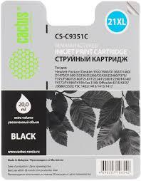 Картридж <b>Cactus CS</b>-<b>C9351C</b>, черный, для струйного принтера ...