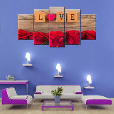 Wood Rectangle Love Scrabble <b>5 Piece</b> Canvas Wallart - <b>HD</b>, Size ...