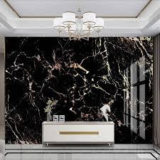 <b>Milofi custom</b> 3D light luxury gold black marble <b>background</b> wall mural