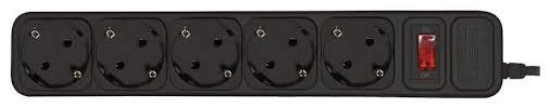 Купить <b>сетевой фильтр CBR</b> CSF-2500 <b>5</b> Black PC <b>5</b> м, цены в ...