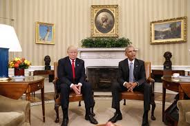 president obama and president elect trump meet in the oval office on thursday barack obama enters oval