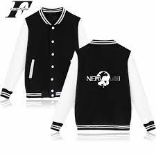 2017 Neon Genesis Baseball Jacket bomber jacket Capless printed ...