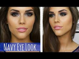 blue smokey eye makeup tutorial prom party clubbing or special event makeup