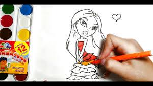 Принцесса <b>барби</b>,с ярко желтыми волосами, <b>рисуем и</b> ...