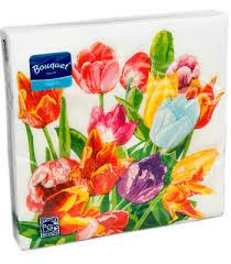 <b>Салфетки бумажные Bouquet Original</b> с рисунком купить в ...