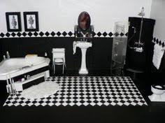 astounding black and white bathroom floor tile bathrooms black dreamz bathroom dollhouse