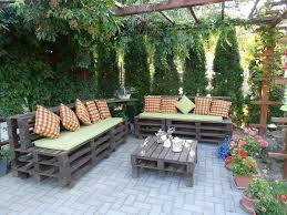outdoor pallet furniture creative ideas backyard patio painted bench decorated wooden table backyard furniture ideas