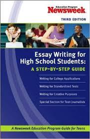 amazoncom essay writing for high school students a stepbystep