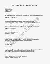 food and beverage resume template food and beverage server resume resume samples beverage technologist resume sample