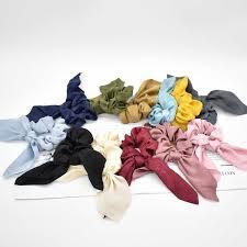 Vintage <b>Women Headwear</b> Turban DIY <b>Bow</b> Streamers <b>Hair</b> ...