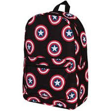 "<b>Marvel Avengers</b> Captain America Big Face 16"" All Over Large Size ..."