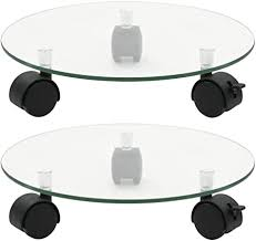 <b>Plant Rollers 2 pcs</b> Tempered Glass 28 cm Round Home: Amazon ...