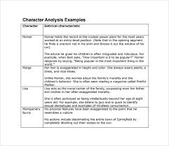 sample character analysis template    free documents in pdf word character analysis example