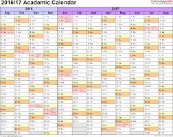 academic calendars 2016 2017 as printable excel templates template 1 academic calendar 2016 17 for excel landscape orientation months horizontally