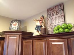 decor kitchen kitchen: above cabinet decor i want to make that cute coffee sign for the side of