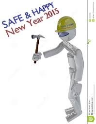 new year job safety image robot builder stock photo image new year job safety image robot builder
