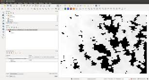 qgis modis moda reproject change data value geographic script 2 reprojected tif