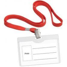 <b>Бейдж горизонтальный</b>, <b>54 х 90 мм</b>, с красным шнурком, с ...