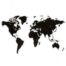 Купить <b>Карта</b>-<b>пазл Wall Decoration</b>, 180х108 см, черная 18-21 за ...