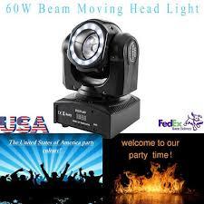 <b>60W Beam</b> Stage Light Moving Head RGBW LED DMX for Disco DJ ...
