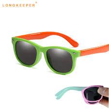 Flexible <b>Polarized Kids Sunglasses Child</b> Black Sun Glasses for ...