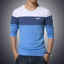 <b>Hot Sale</b> 2019 <b>Spring</b> Men's T <b>shirt</b> Long Sleeve O neck Basic Solid ...