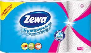 """<b>Полотенца кухонные</b> бумажные zewa """"декор"""", двухслойные, цвет"""