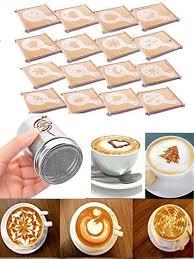 Buy 16Pcs Fancy <b>Coffee</b> Molds Set DIY <b>Cappuccino</b> Stencil <b>Latte</b> Art ...