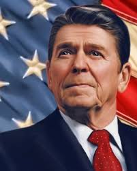 Image result for caricature of a Ronald Reagan