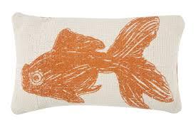 goldfish sketch grain sack pillow design by thomas paul – burke decor